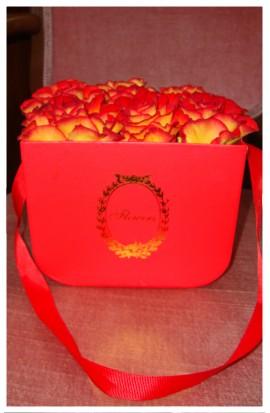 B2 - Ohnivé ružičky krásnej červeno-žltej farby