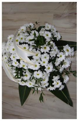 S3 - Smútočná kytica bielych chryzantém