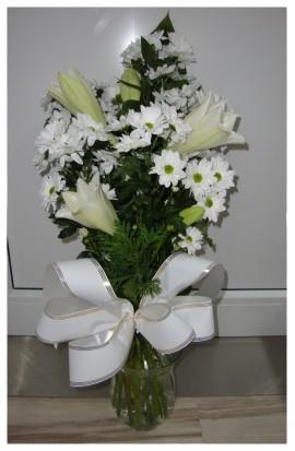 S4 - Smútočná kytica z bielych ľalií