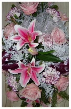 S5 - Smútočná žardiniéra živých kvetov